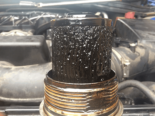 blocked oil filter