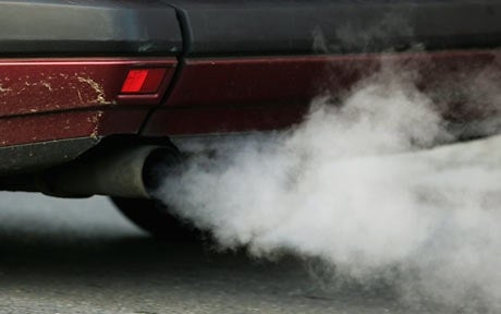 car exhaust idling