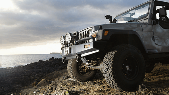 jeep off-roading lights