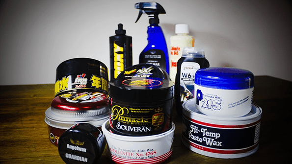collection of black car wax