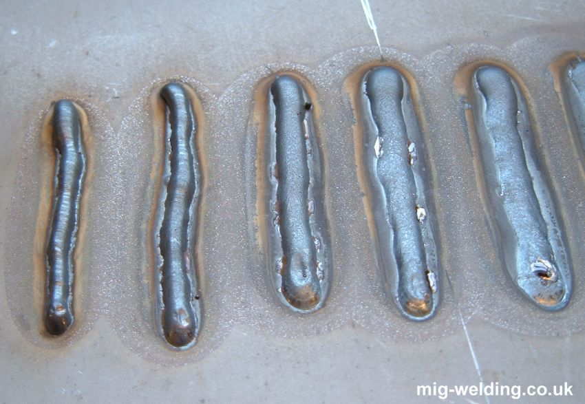 examples of mig welds