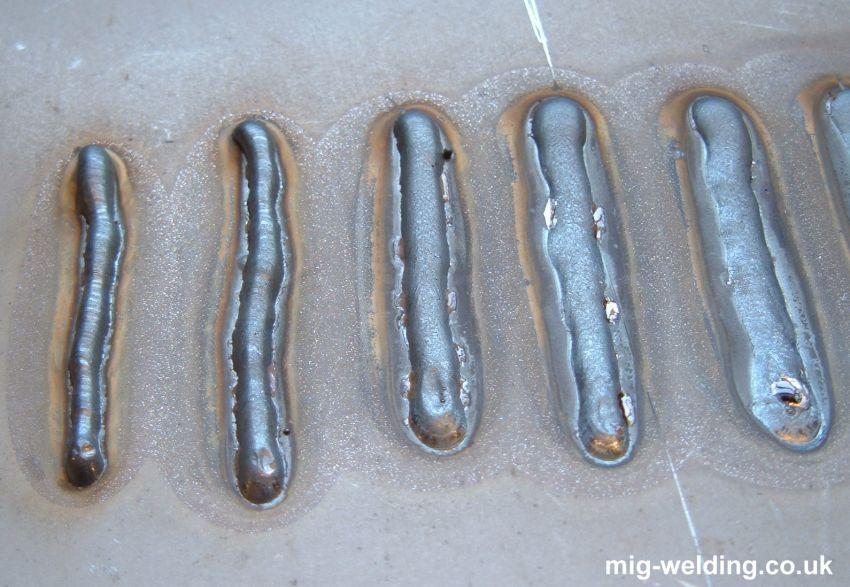 examples of mig welds