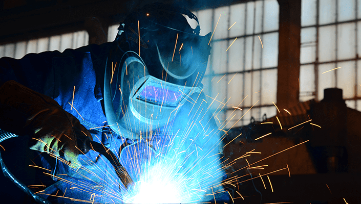 person mig welding