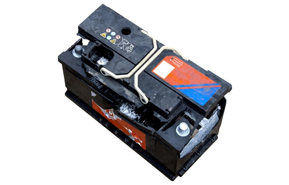 car battery swelling