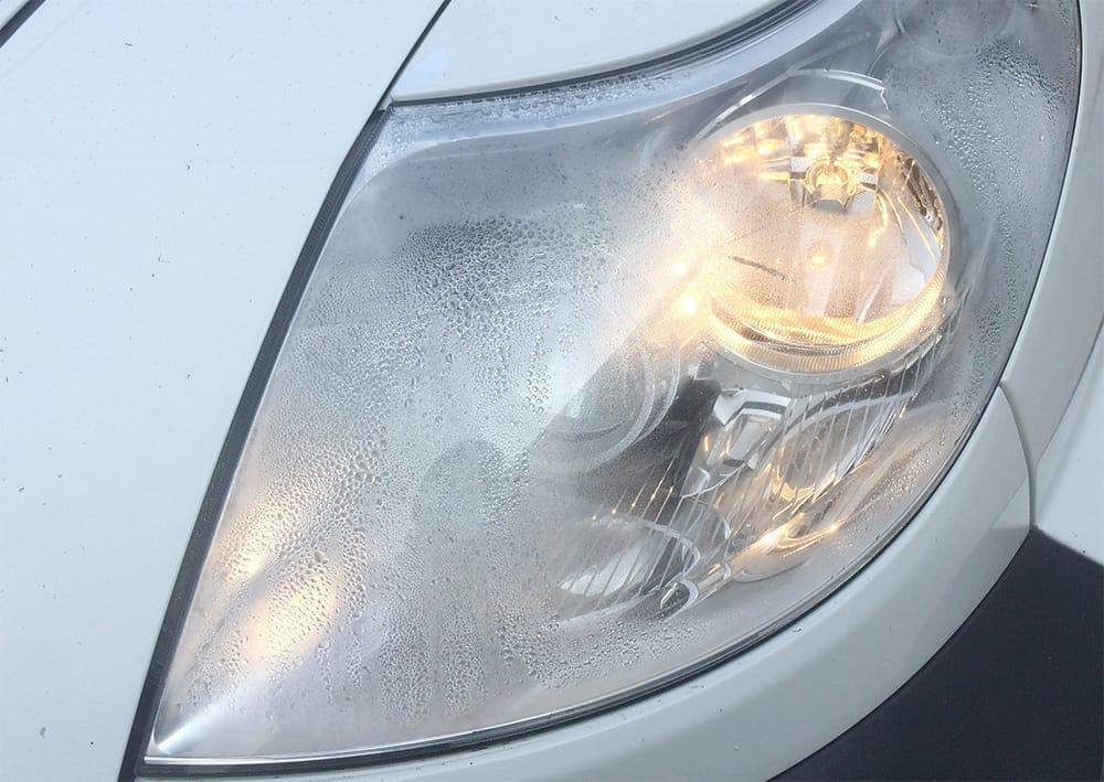 headlight condensation on
