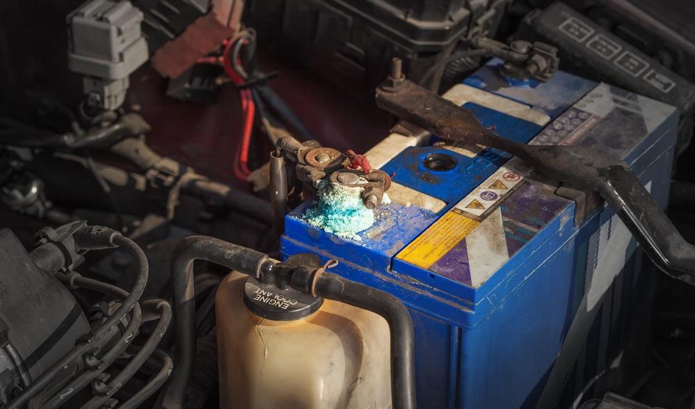 car battery corrosion on terminal
