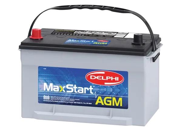 delphi maxstart agm automotive battery